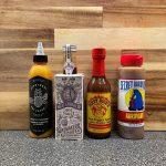 Top 4 sauzen seizoen 1: Heatbeat Hotsauce Pineapple Habanero, Raijmkaers Heetmakers Heat Enhancer, Dirty Dick's Hot Pepper Sauce en Secret Aardvark Aardvark Habanero Hot Sauce